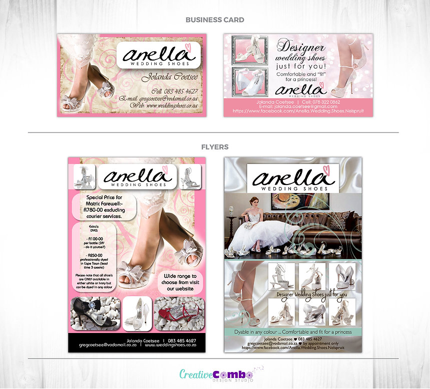 Anella Wedding Shoes Nelspruit Corporate Identity Design