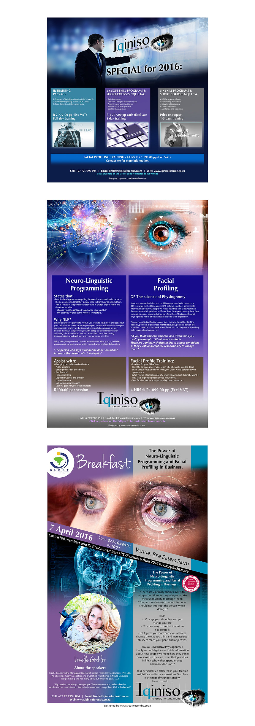 Iqiniso Forensic Investigations Marketing Material Designs