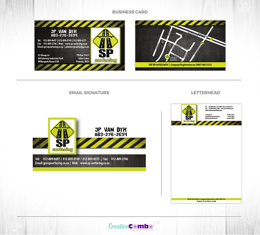 SP Surfacing Corporate Identity Design