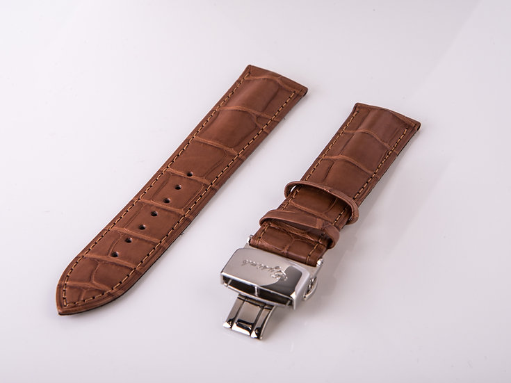 Alligator Light Brown Wrist Band (without buckle)