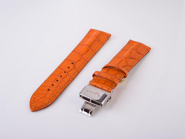 Alligator Orange Wrist Band (without buckle)