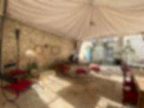 terrasse reception chateaux de la loire