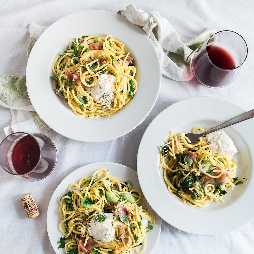Spaghetti and Wine