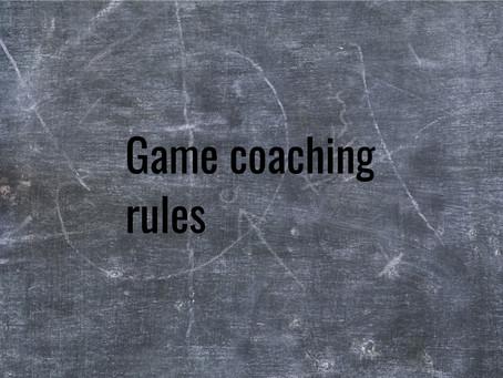 Game Coaching rules