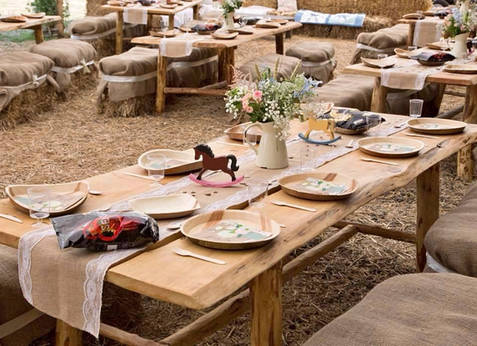 Wedding Reception Dining Tables, Built By Customer