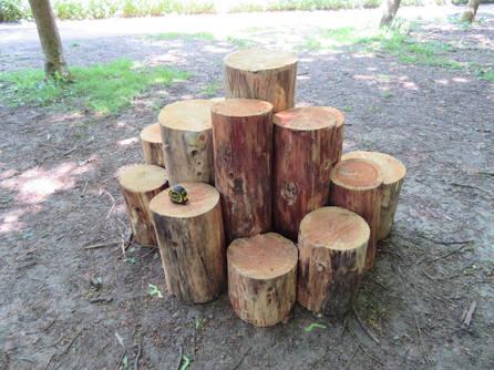 Natural Play Log Stack