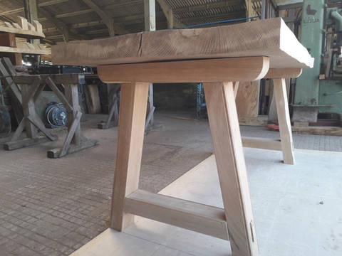 Medieval Oak Trestle Table