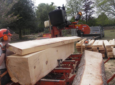 Cutting Raised Bed Sleepers