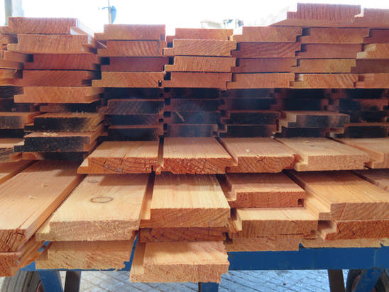 Douglas Fir Profiled Cladding