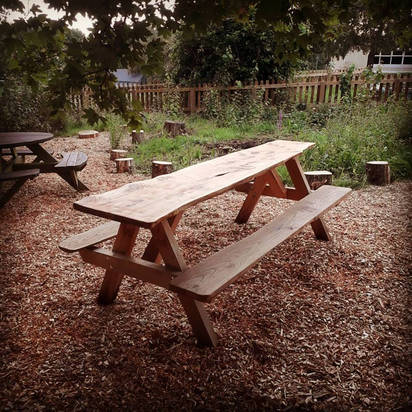 Cypress Bench for School Wildlife Area