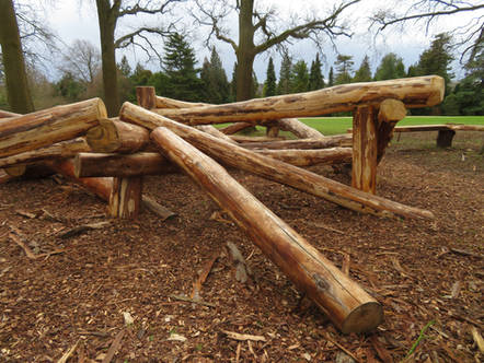 Jointed Log Stack For Play Area
