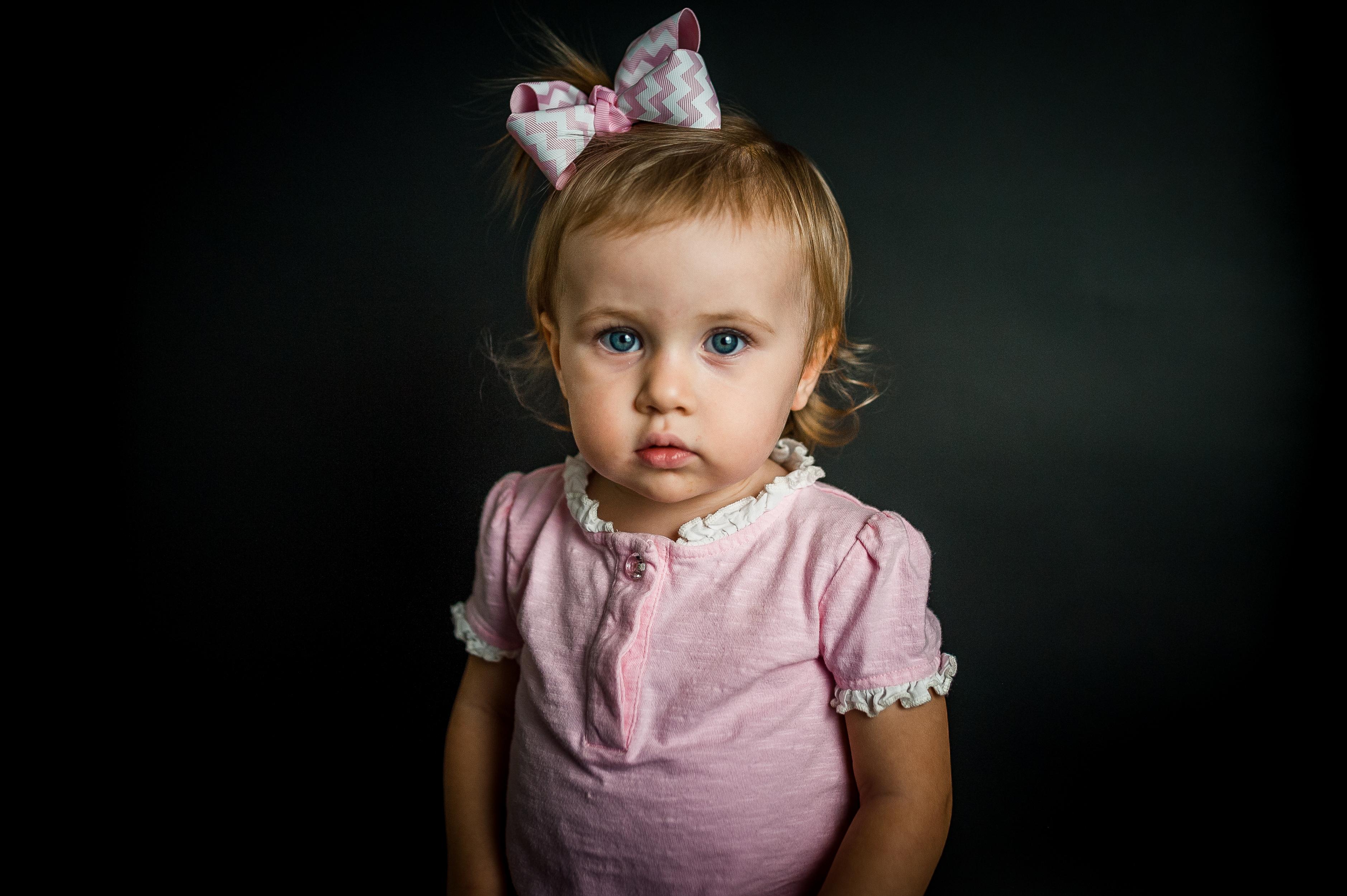 toddler girl in pink