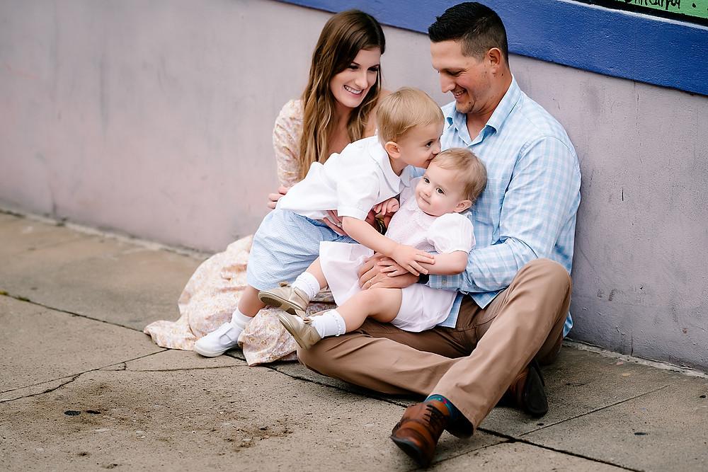Urban family photography Denton Square