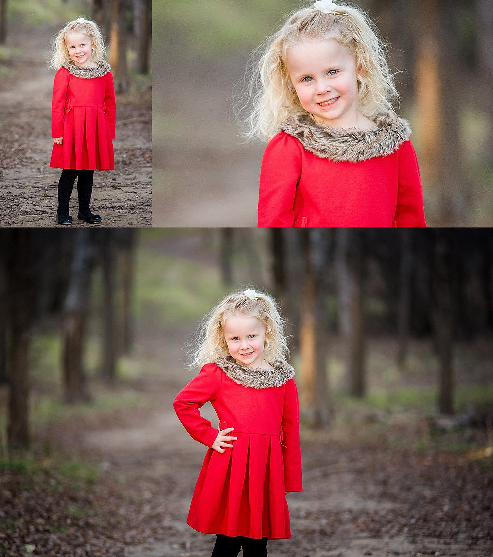 pretty little girl in red dress, Trophy Club photographer