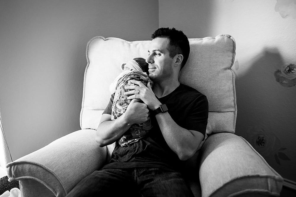 Sarah Hailey Photography Southlake lifestyle newborn photographer dad
