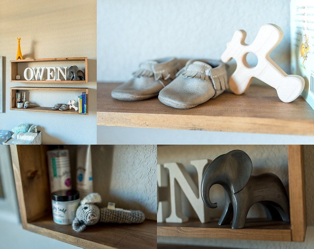 nursery detail, baby moccasins