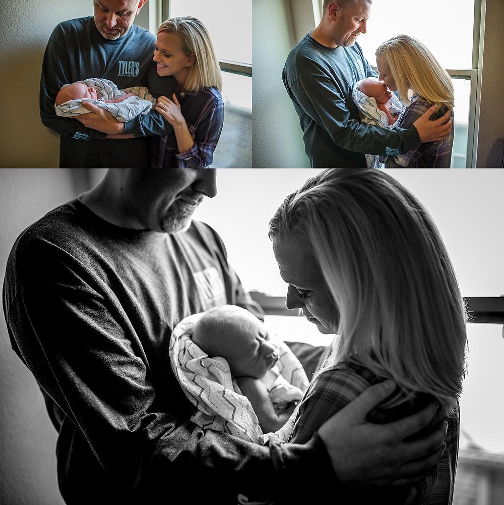 parents with baby Roanoke newborn