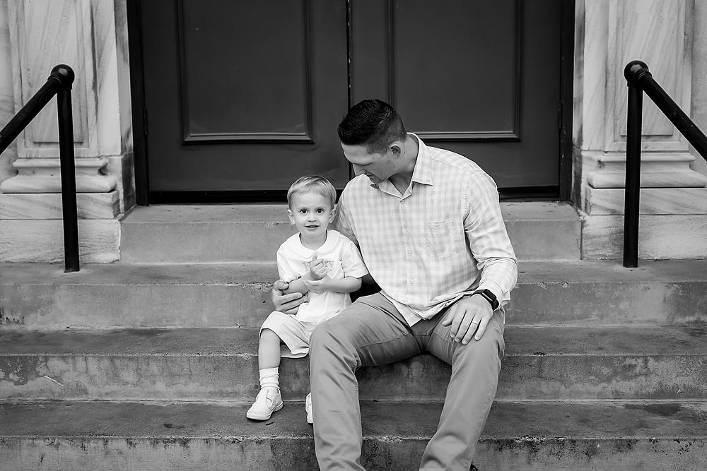 dad and son Denton Texas