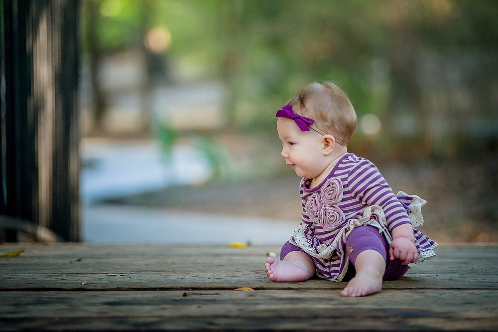 Six months, sitter session, Grapevine Botanical Gardens