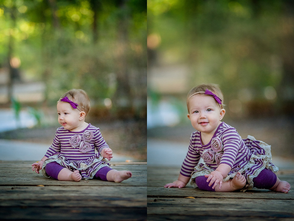 Six month baby, sitter session, Grapevine Botanical Gardens