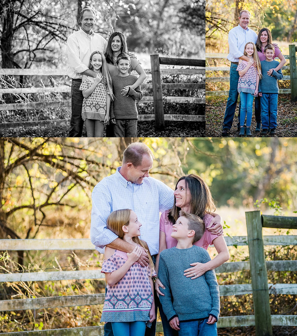 fall family photos at Bear Creek Park Keller Texas