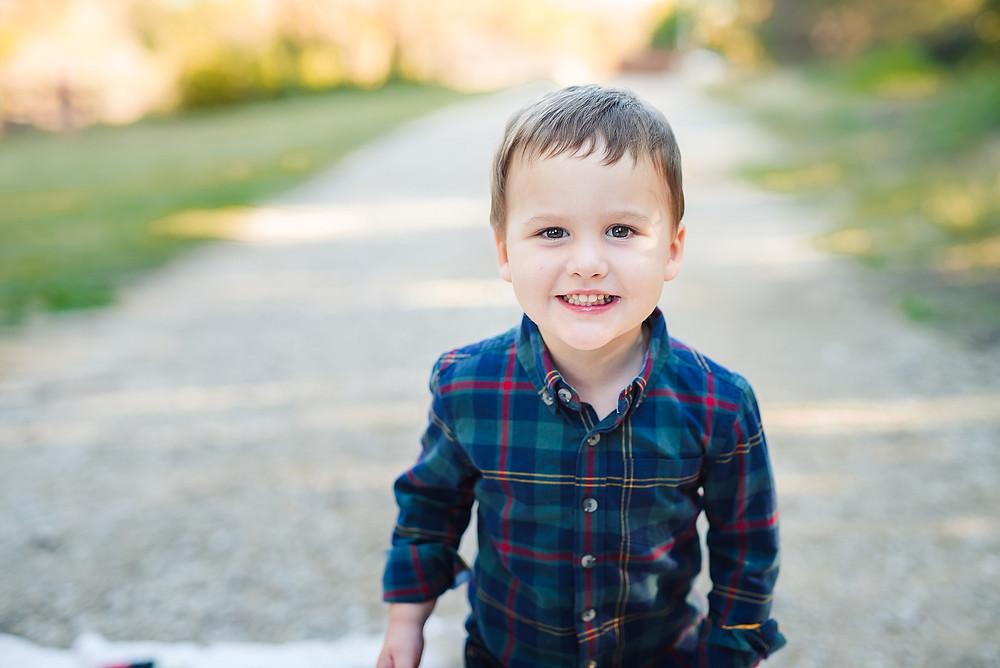 Fort Worth lifestyle photographer little boy Trophy Club Park