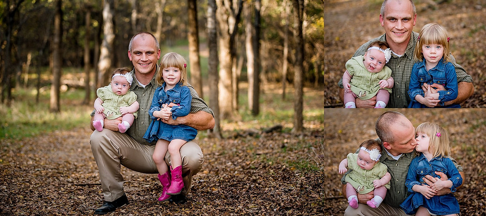Family photo, dad with baby and toddler, Trophy Club, lifestyle family photography
