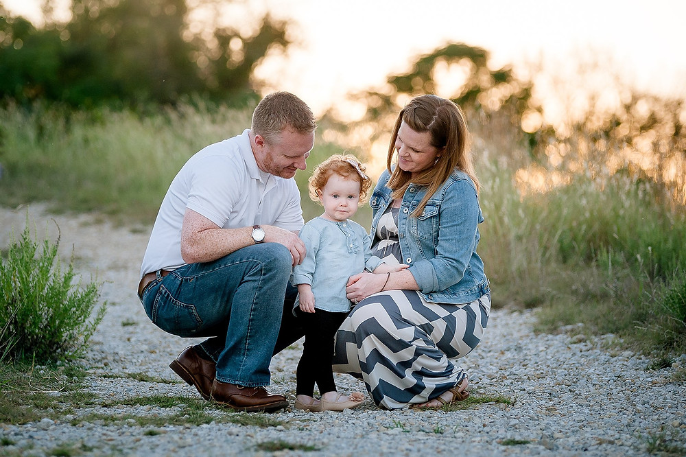 family and toddler, family maternity, Fort Worth maternity, Fort Worth photographer, Northwest Park, family of three