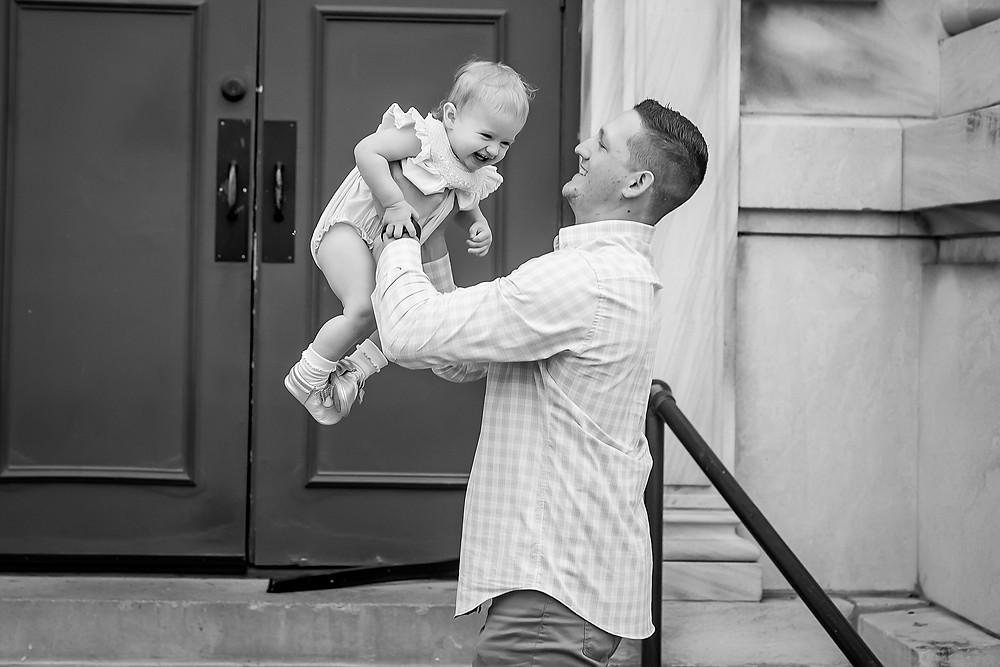Dad and baby Denton