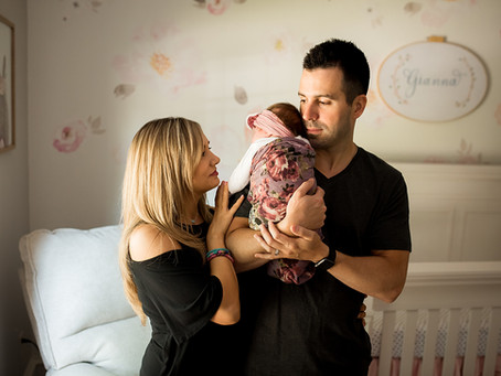 Perfect Party of Three // Fort Worth Lifestyle Newborn Photographer