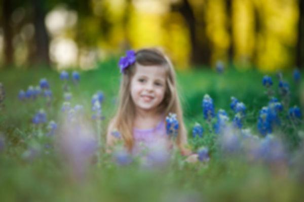 girl in bluebonnets Grapevine Texas