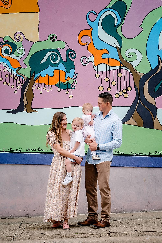 Denton Square mural photography