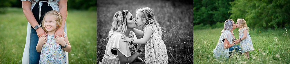 Keller family photographer, mother and daughter