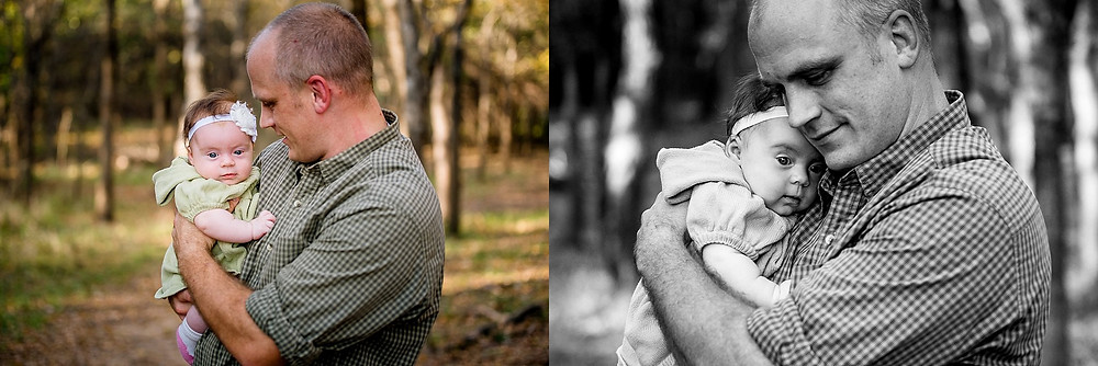 Family photo, dad with baby, Trophy Club, lifestyle family photography