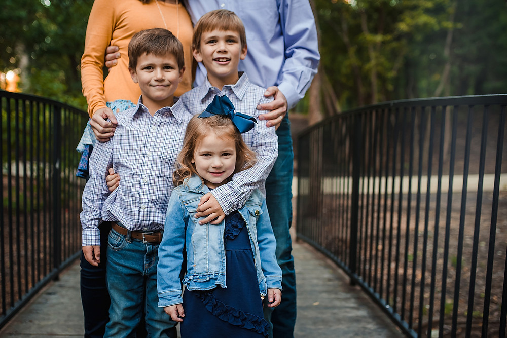 Grapevine Botanical Gardens family photography