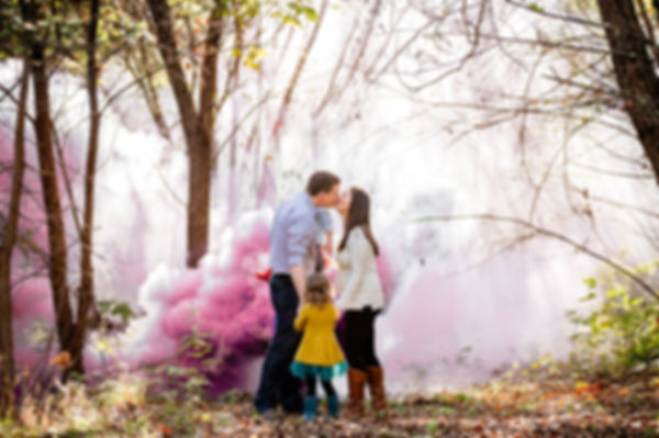 family gender reveal photo in Colleyvill Texas