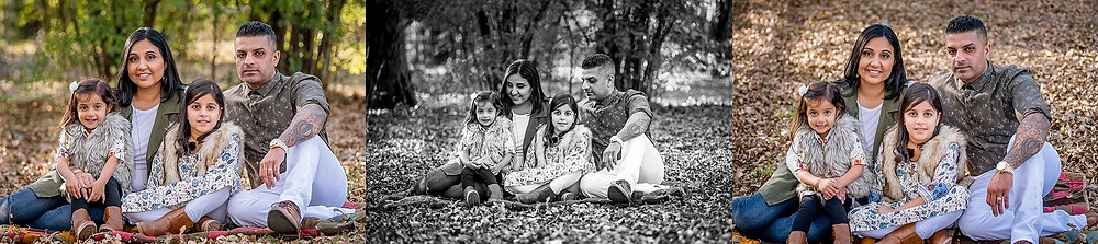 family with two daughters, Keller Pointe, fall photos