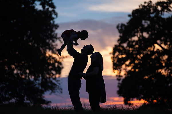 silhouette family photo at Bob Jones Nature Center Southlake