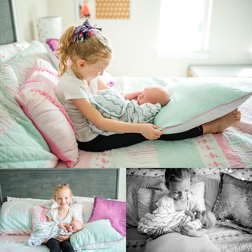 siblings Trophy Club newborn photography