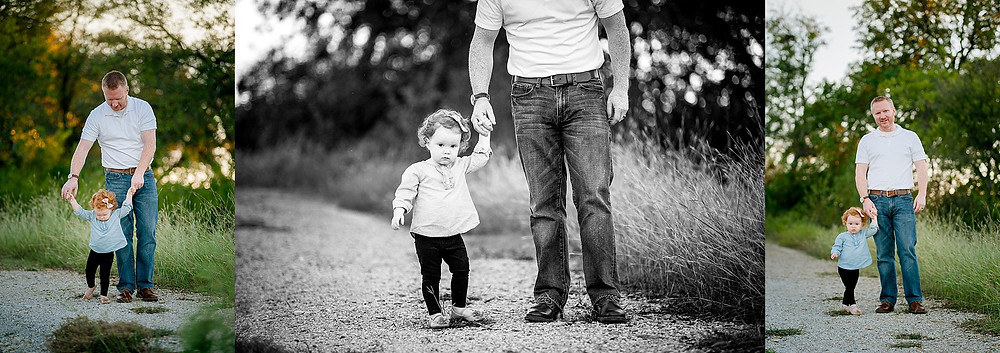 family and toddler, family maternity, Fort Worth maternity, Fort Worth photographer, Northwest Park, dad and daughter, red headed girl