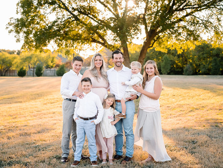 Party of 8 // Fort Worth family photographer