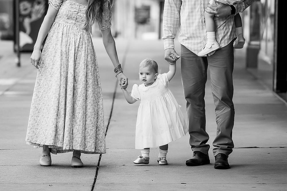 Denton Square family photography