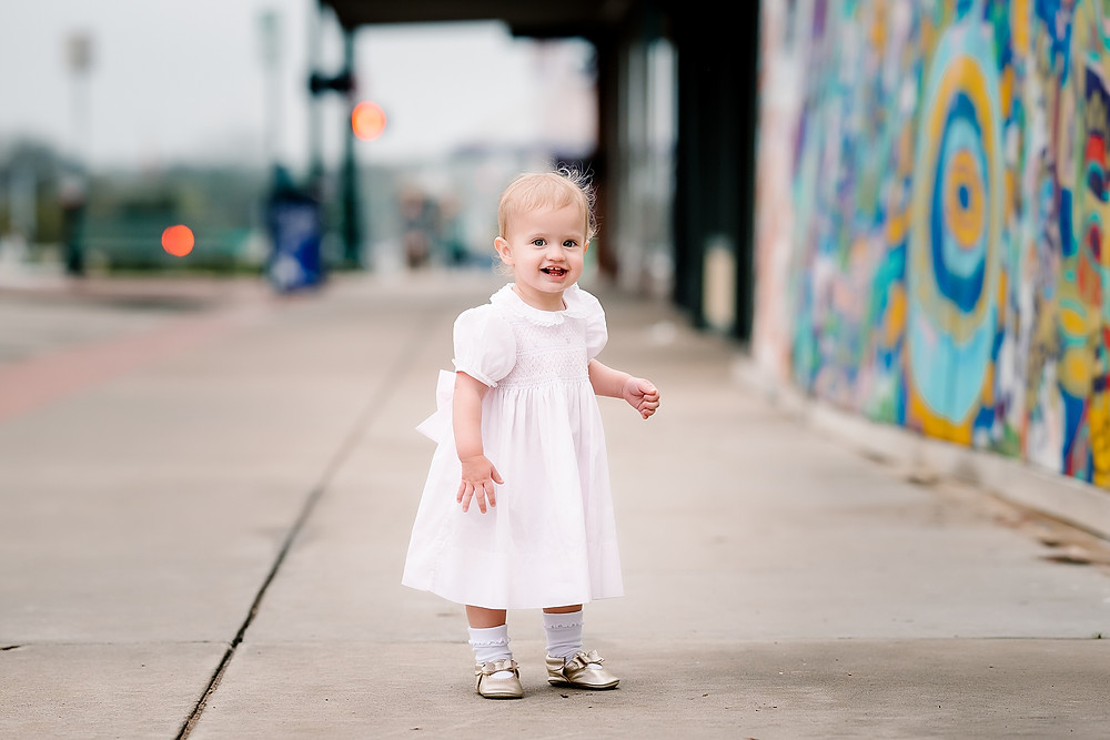 One year old session Denton Texas