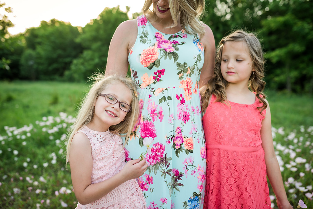 mom and daughters, Fort Worth family photography, Trophy Club photographer