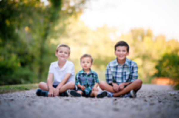 three brothers at Trophy Club Park, professional photographer