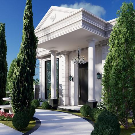 projeto casa neoclassica declive vista mar praia ubatuba