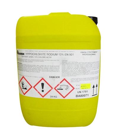 Bidon 20L Eau de javel concentrée -Hypochlorite de Sodium  47/55° - 13%