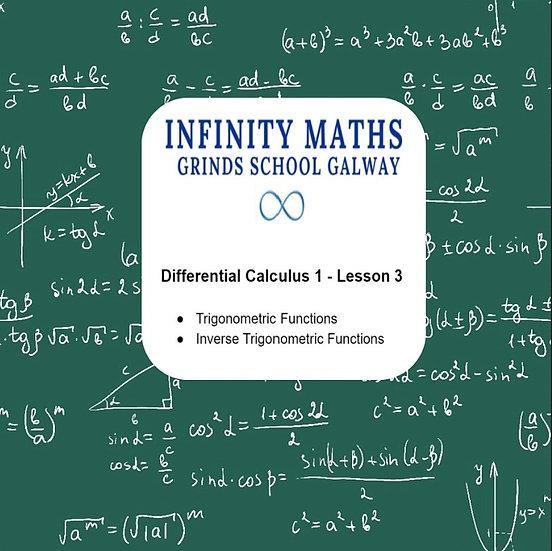Differential Calculus 1 Lesson 3