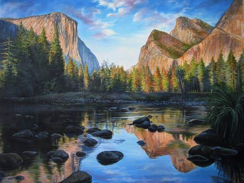 yosemite_mirror_lake_painting_olga_kucze