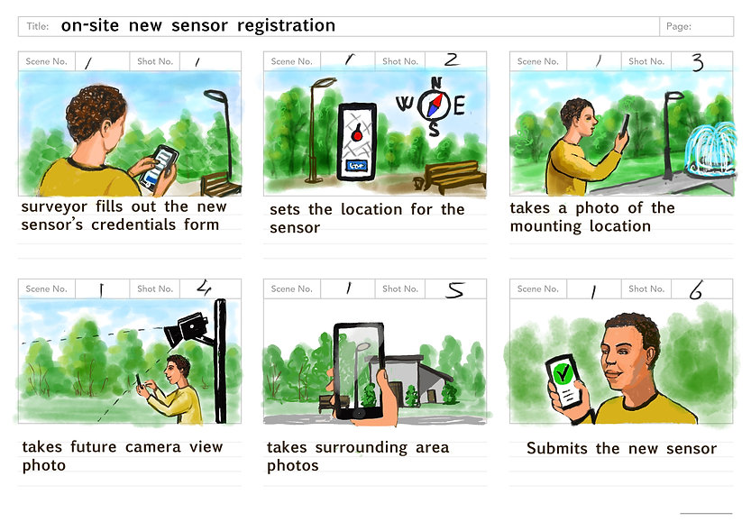 Set a new sensor storyboard